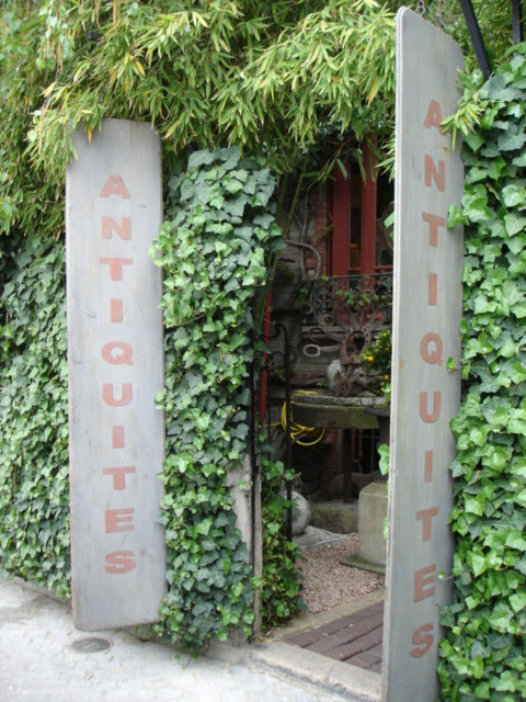Antique shop entrance