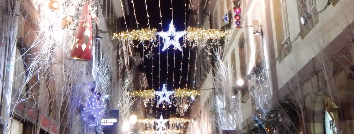 Holiday decorations in France