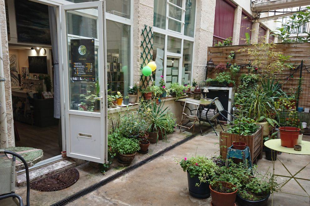 Belleville courtyard