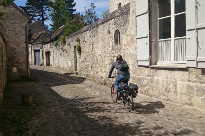 Biking in French village