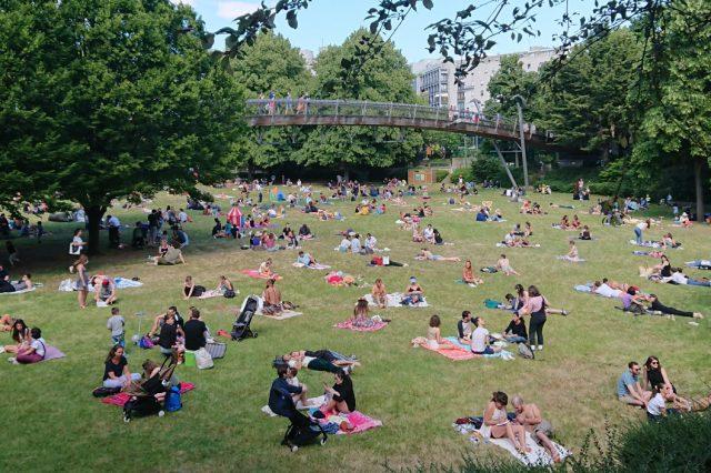 Parisians at the park