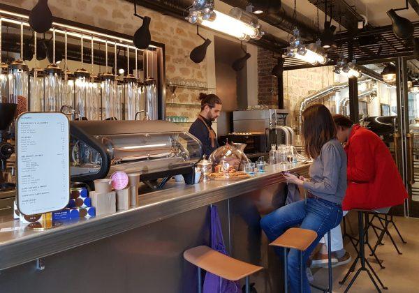 The counter at La Manufacture du Café