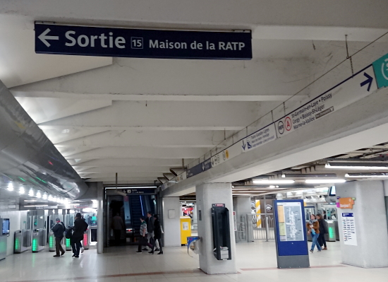 Sign from metro station