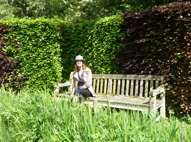 Heather on bench