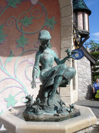 Statue at Disneyland