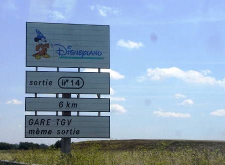 Sign for Disneyland