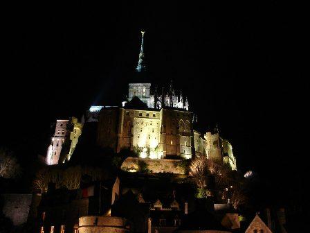 Mont St Michel After Dark