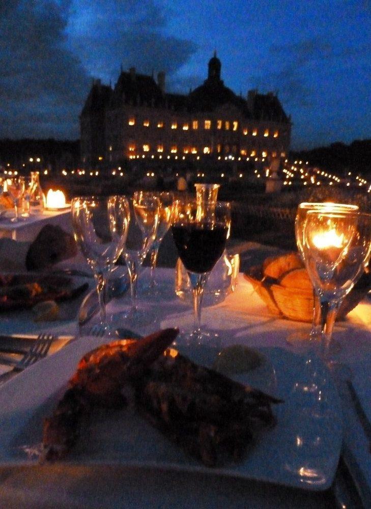 Dinner at Vaux le Vicomte