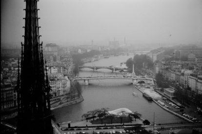 vintage Paris aerial view