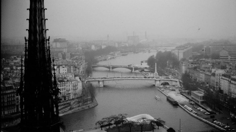 vintage Paris aerial view