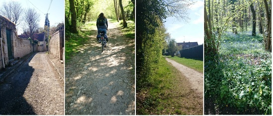 Bike trails outside Paris