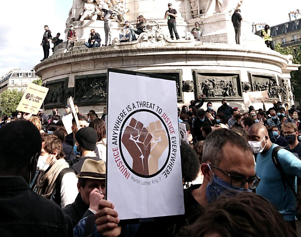 Black Lives Matter poster at demonstration