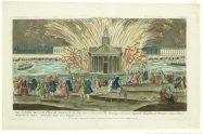 vintage print of fireworks